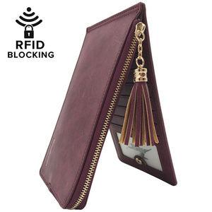 Women's RFID Blocking Bifold Multi Card Organizer